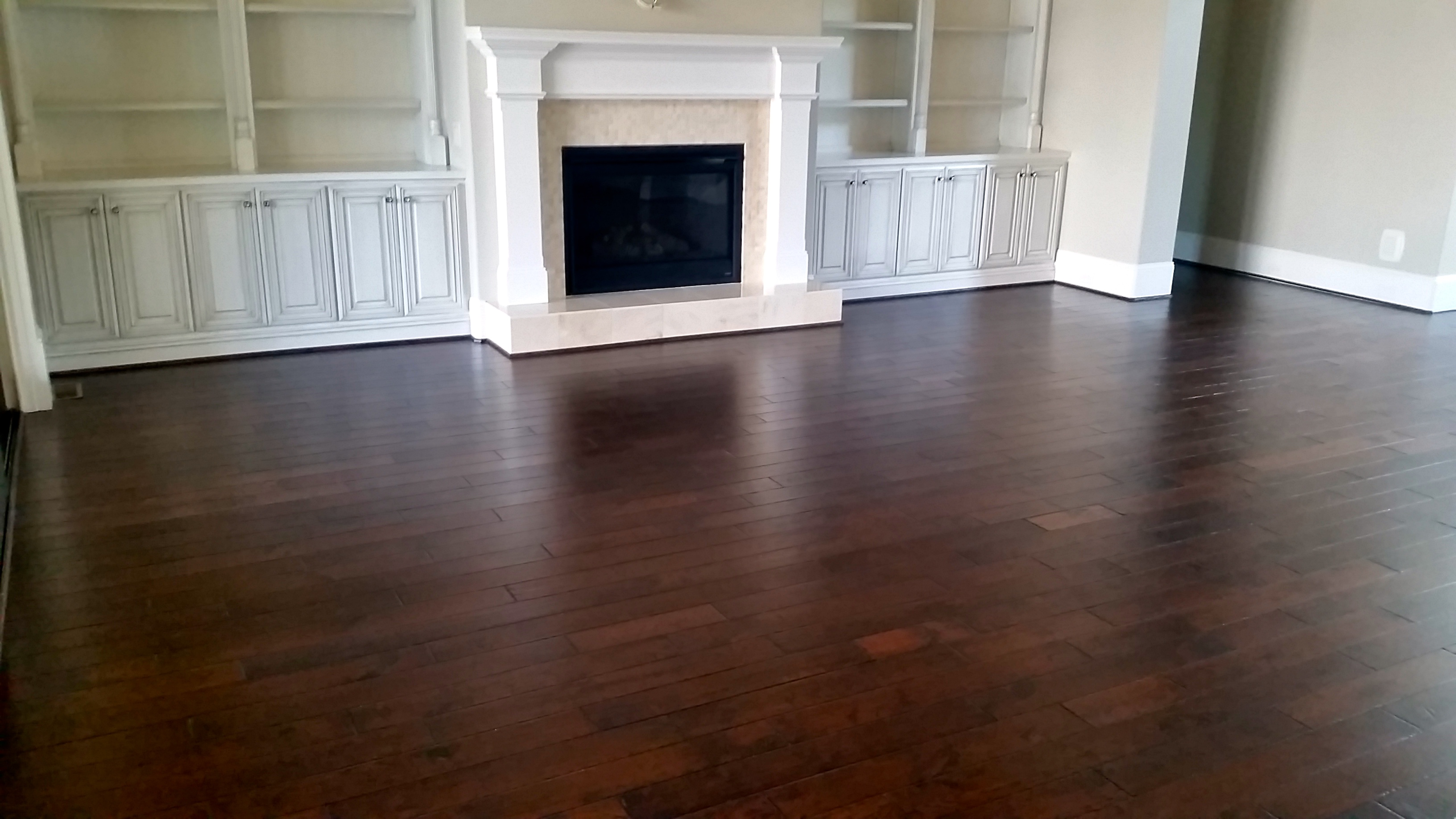 Pre-finished nail down hardwood flooring installed in Greenville, SC