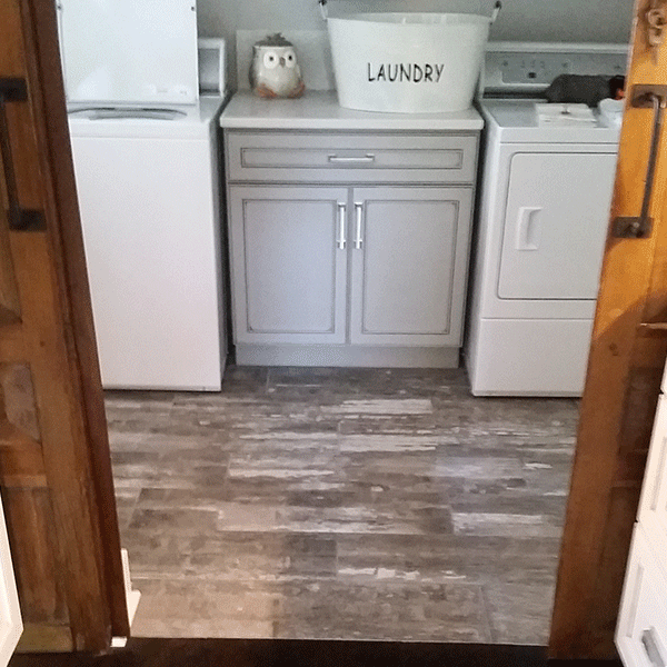 Laundry room finished with tile flooring in Greenville, SC