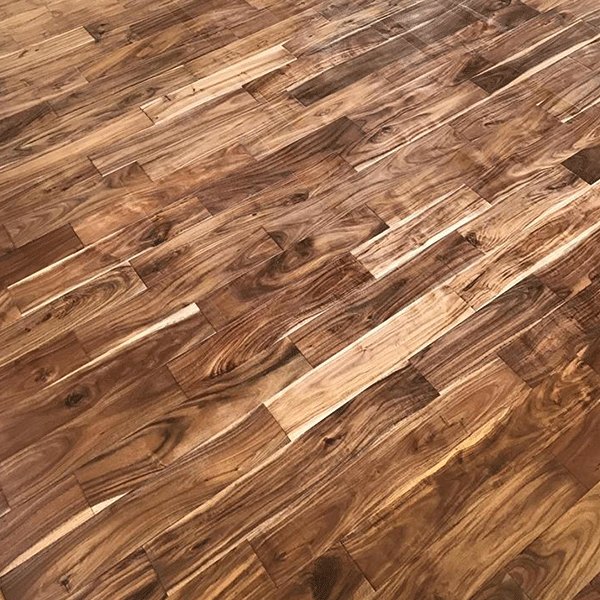 Pre-finished Acacia hardwood flooring installed in Greenville, SC